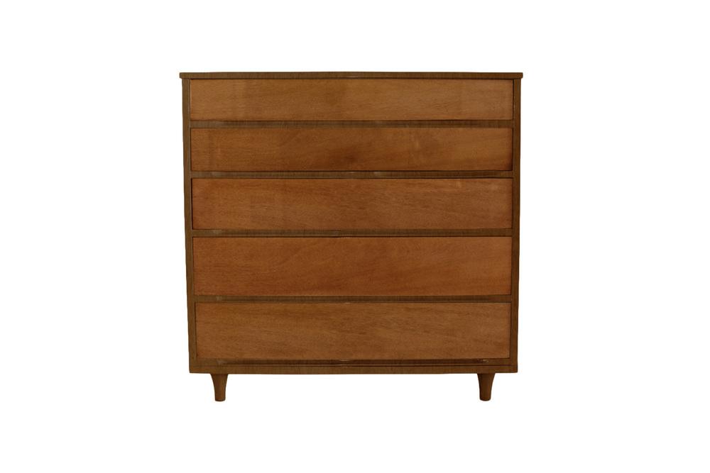 mid century modern dresser before restoration
