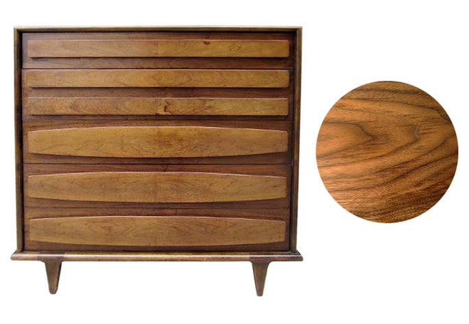Mid century modern walnut dresser to be refinshed