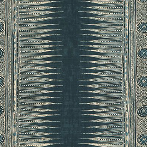"Lee Jofa ""INDIAN ZAG INDIGO"""