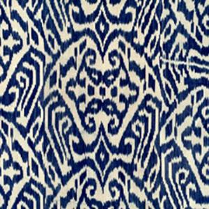 """Madeline Weinrib """"Navy Luce Ikat fabric"""""""