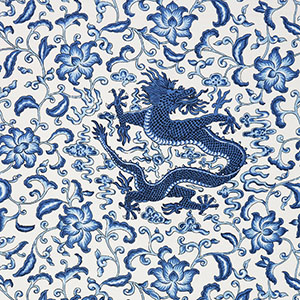 "Salamandre ""Chien dragon Fall 2015 linen print"""