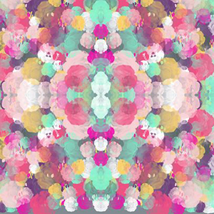 "Spoon flower ""Colorful Abstracted Roses"""