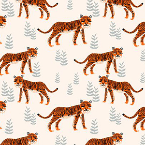 "Spoon Flower ""Safari Tiger"""