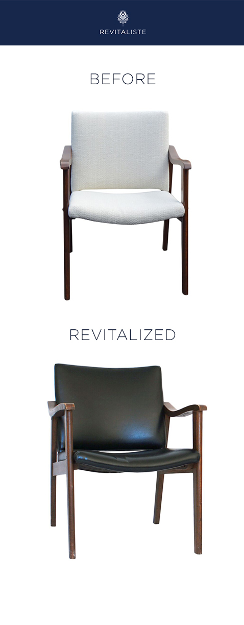 Teak Mid Century Chairs: Reupholstered in Perennials ""