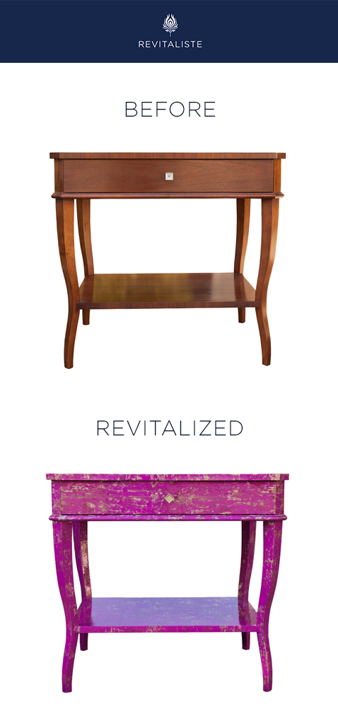 "Pair of Hickory Chair Nightstands: Covered in Designers Guild ""Rasetti"" wallpaper in Scarlet color way, lacquered in high gloss clear finish."