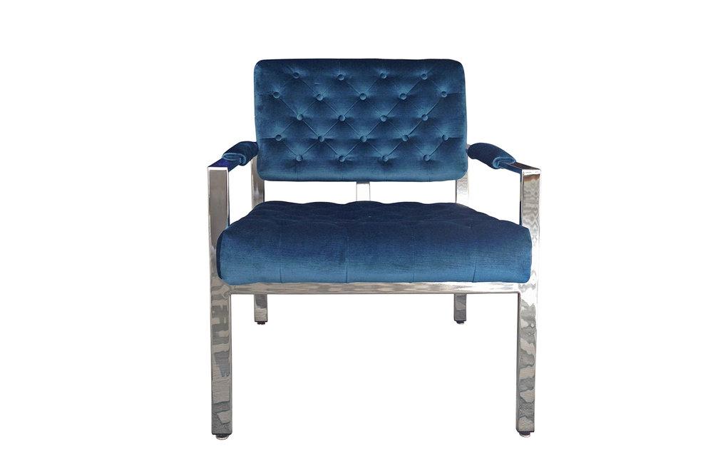 Milo Baughman Chrome club chair