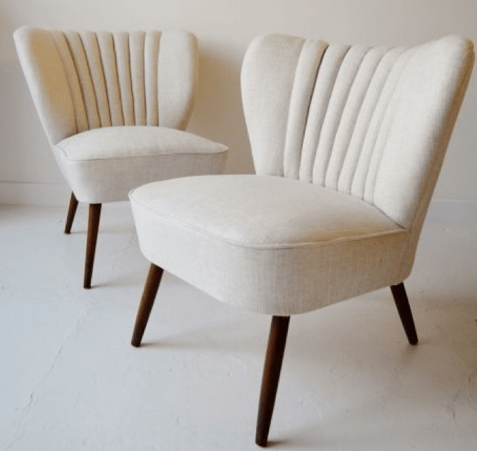 Upholstered vintage chairs