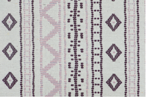 Penny Morrison Upholstery Fabric | Andean Stripe in Lilac