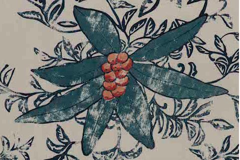 Penny Morrison Upholstery Fabric | Berri in Petrol