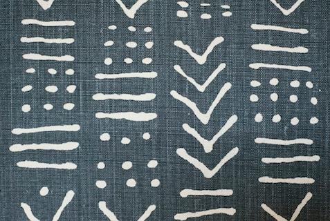Penny Morrison Upholstery Fabric | Luma in Indigo