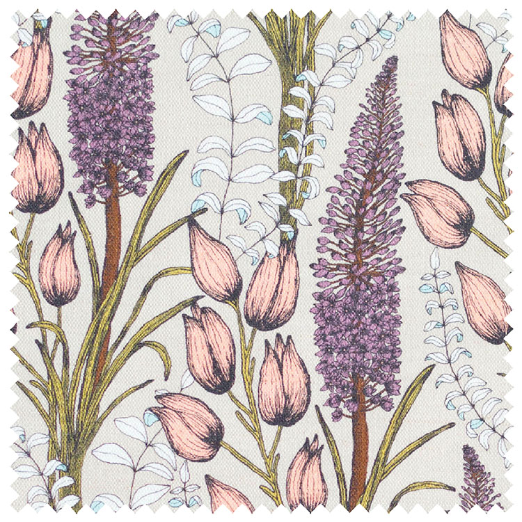 Abigail Borg Foxtail Lily Taupe Upholstery Fabric