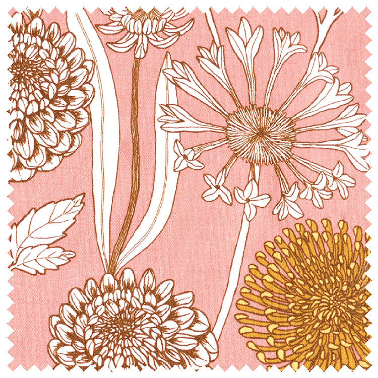 Abigail Borg Wild Garden Mulberry Fabric