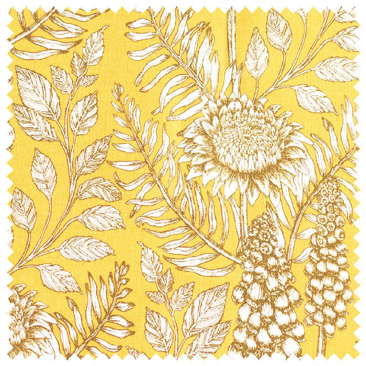 Abigail Borg Muscari Mustard Fabric