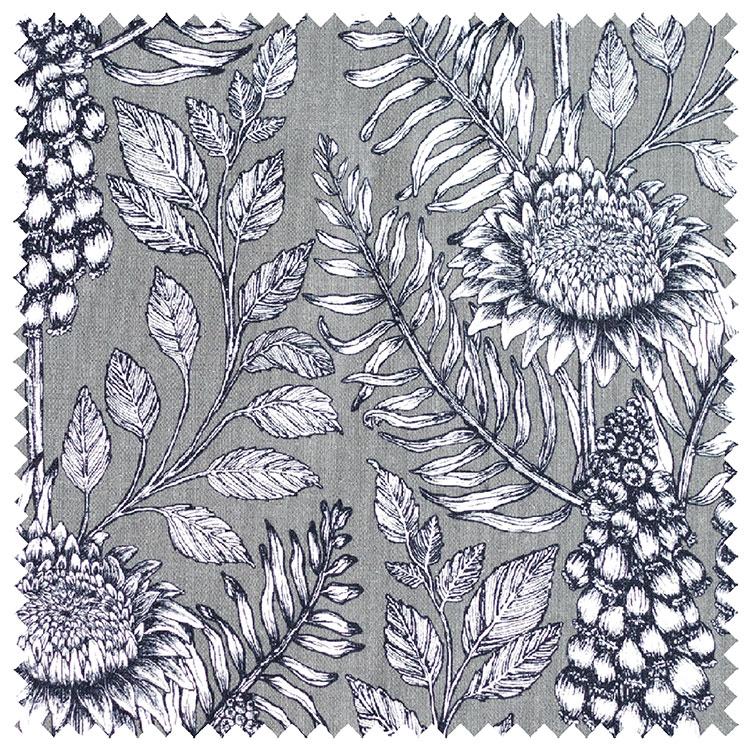 Abigail Borg Muscari Slate Fabric