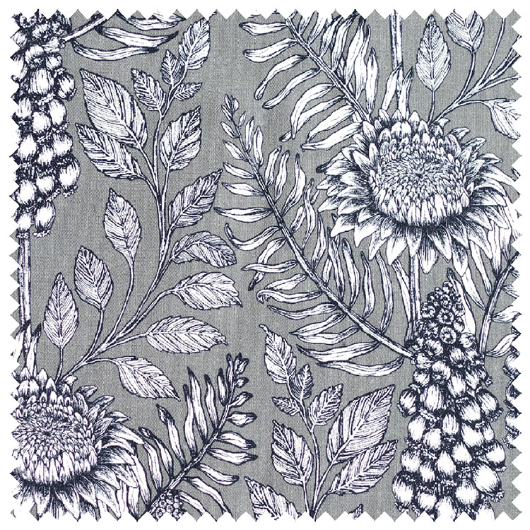 Abigail Borg Muscari Slate Upholstery Fabric