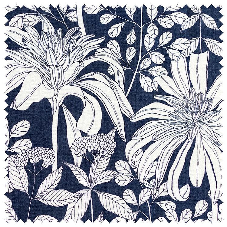 Abigail Borg Mathilda Navy Upholstery Fabric