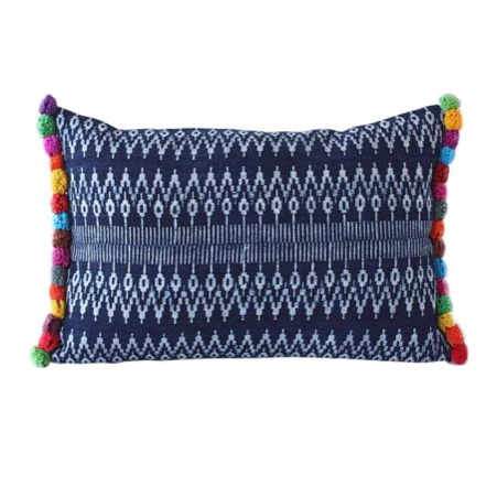 Budget-friendly decor refresh idea: custom pillows with pompom trim
