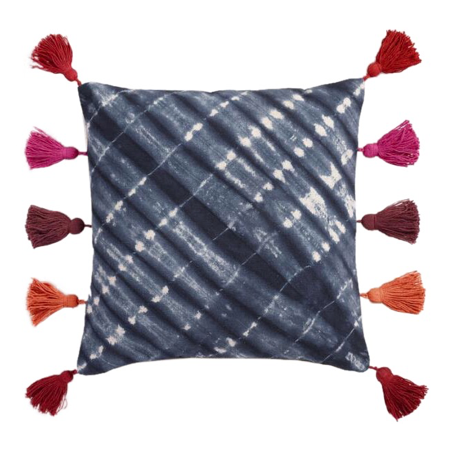 Budget-friendly decor refresh idea: custom pillows with tassel trim