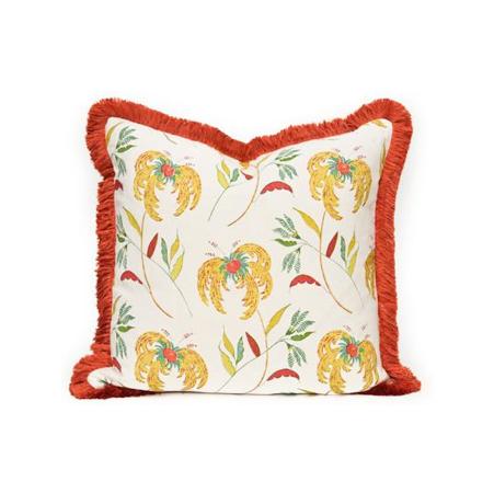 Budget-friendly decor refresh idea: custom pillows with fringe trim