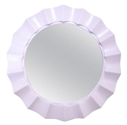 Budget-friendly decor refresh idea: lacquer mirror frames in fun, glossy colors - lavendar
