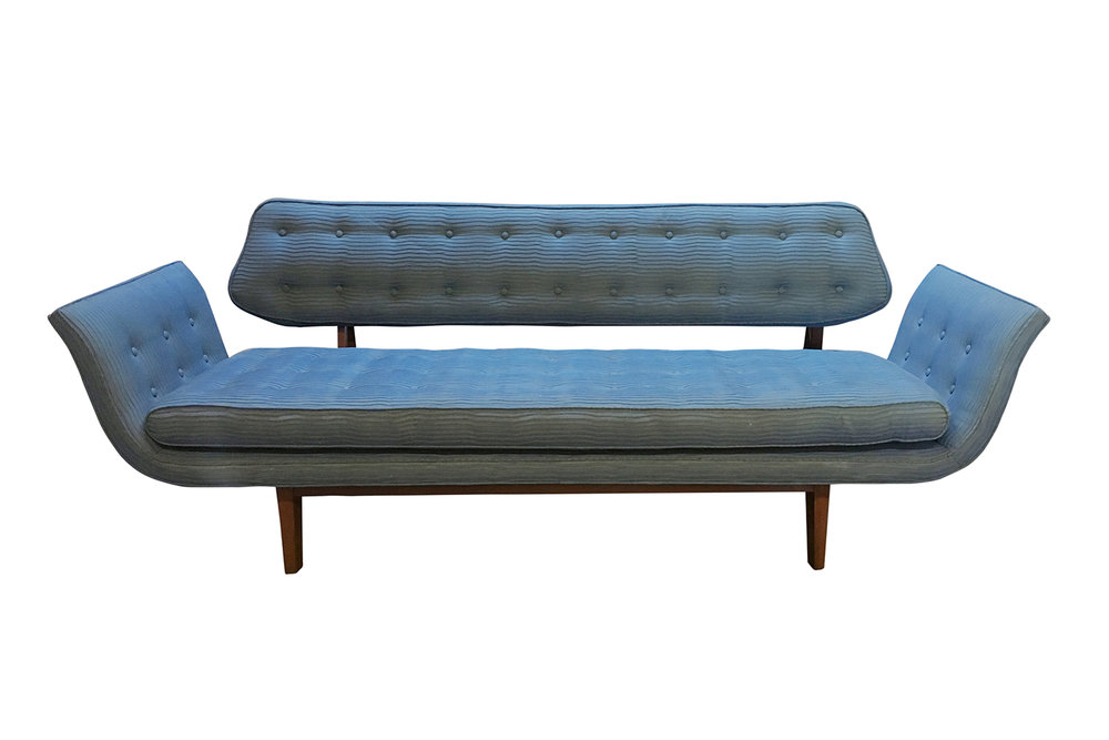 Vintage Edward Wormley gondola sofa ready to be reupholstered by Revitaliste