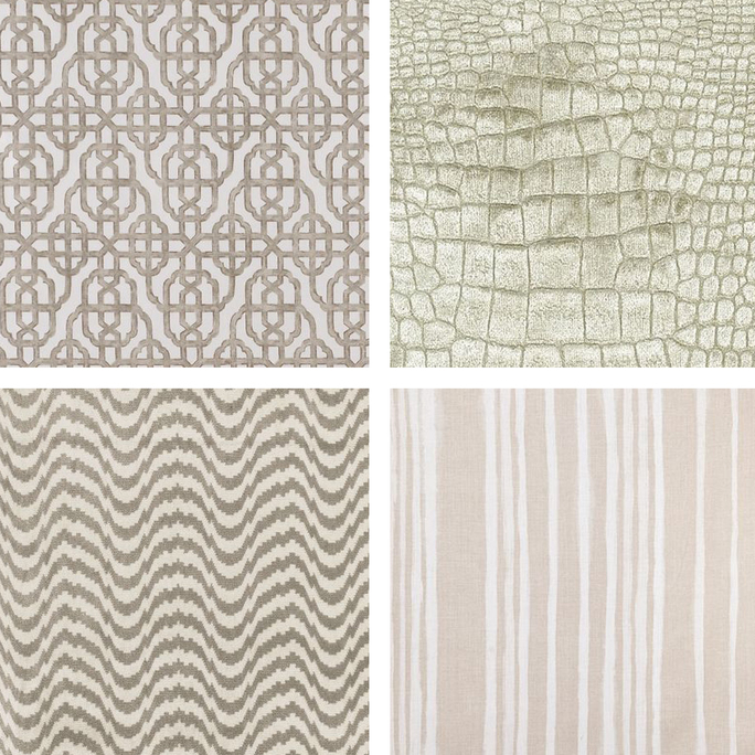 Beige & Tan Upholstery Fabric