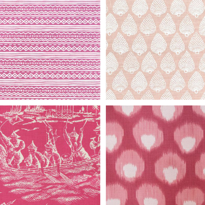 Pink Upholstery Fabric