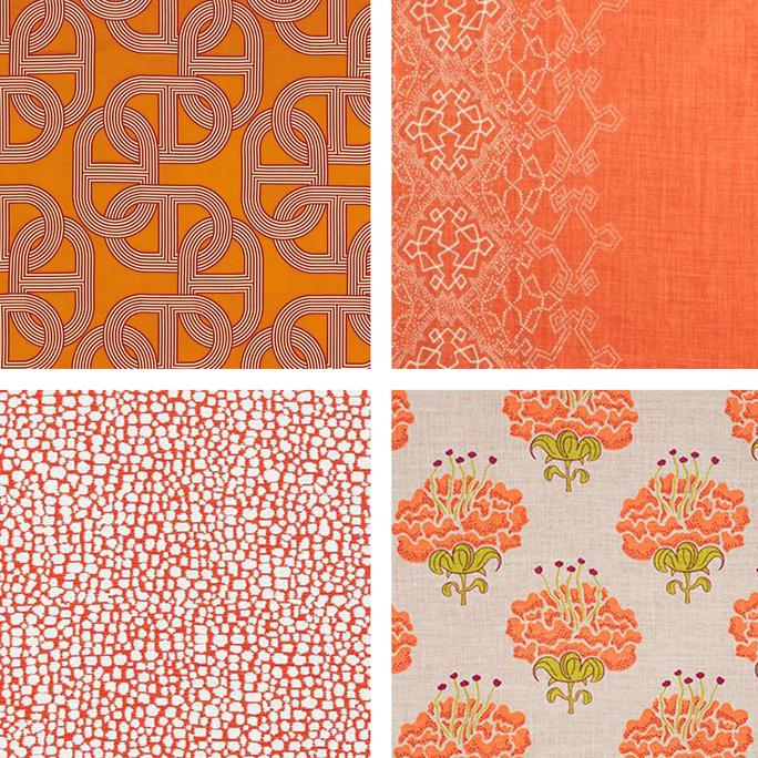 Orange Upholstery Fabric