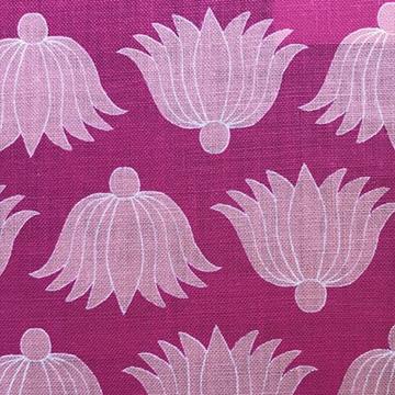 """Alex Conroy Textiles """"Double Lotus"""" in Fuchsia"""