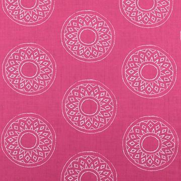 "Alex Conroy Textiles ""Large Gujarat Reverse"" in Fuchsia"