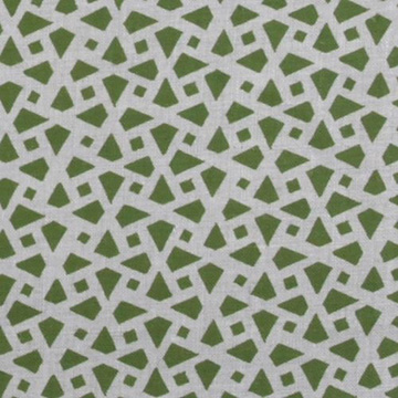 "Alex Conroy Textiles ""Mughal Lattice Small Reverse"" in Grass"