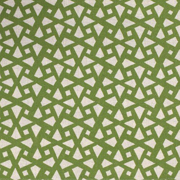 "Alex Conroy Textiles ""Mughal Lattice Small"" in Grass"