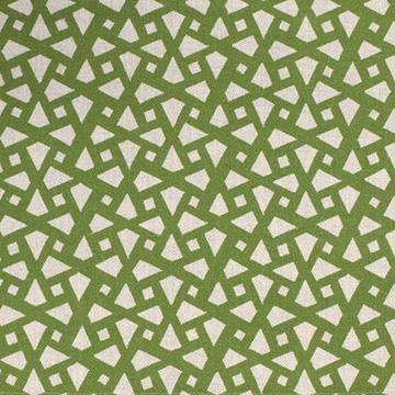 """Alex Conroy Textiles """"Mughal Lattice Small"""" in Grass"""