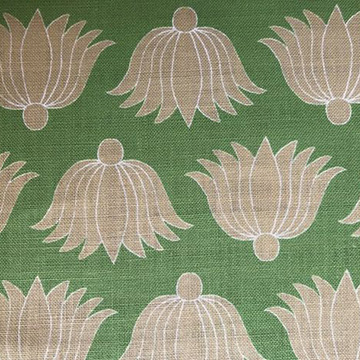 "Alex Conroy Textiles ""Double Lotus"" in Grass"