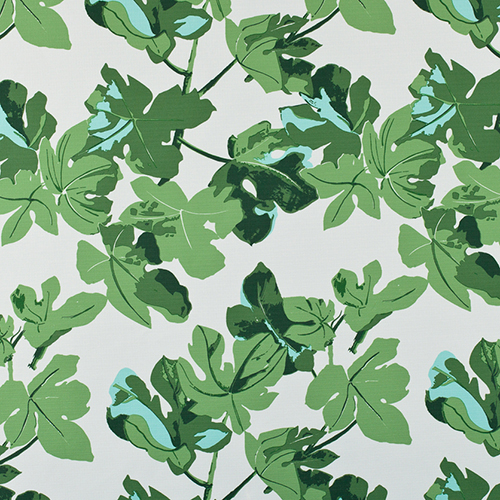 8: 'Fig Leaf' in Original, by Peter Dunham Textiles - No indoor/outdoor fabric list is complete without acknowledging Peter Dunham's iconic 'Fig Leaf.' Top interior designers use this classic everywhere (just check out the May 2018 cover of Architectural Digest), and for good reason. The fig leaf pattern is soothing and tropical, adding the perfect bohemian element to any space.