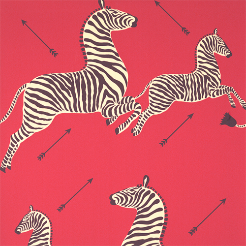 4. 'Zebras' in Masai Red, by Scalamandre - 'Zebras' from Scalamandre is a true classic: used in many of the world's swankiest hotels and lounges, this pattern instantly adds an elevated yet whimsical element to any space. With the addition of an indoor/outdoor version, you can expect to see even more fabulous uses of this print.