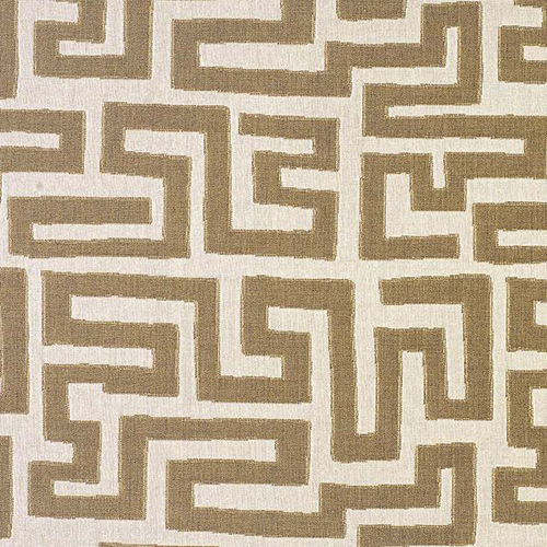 9. 'Labyrinth' in Taro, by Nomi - 'Labyrinth' feels both exotic and Art Deco inspired, and we especially love it in the neutral 'Taro' colorway. It's easy to imagine this print completing an outdoor or indoor look, from a fun accent pillow to a bold sofa.