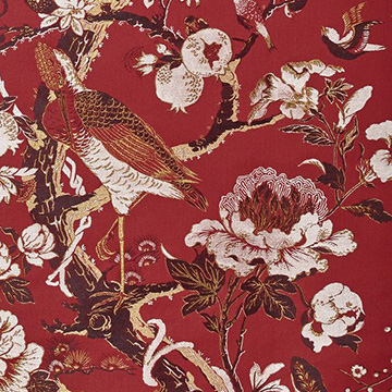 "Dedar ""Silkbird Jacquard"" in Red Lac"