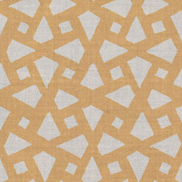 "Alex Conroy Textiles ""Mughal Lattice Large"" in Natural Desert"