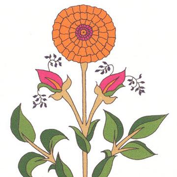"Alex Conroy Textiles ""Large Marigold"""