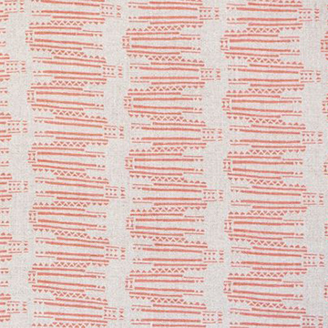 "Fayce Textiles ""Empire"" in Coral"