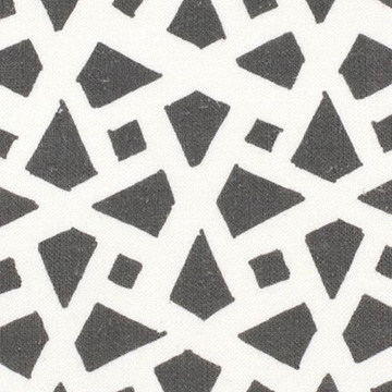 "Alex Conroy Textiles ""Mughal Lattice Large Reverse"" in Grey"
