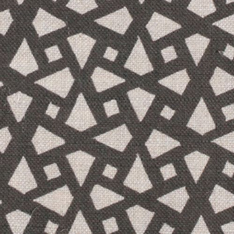 "Alex Conroy Textiles ""Mughal Lattice Small"" in Charcoal"
