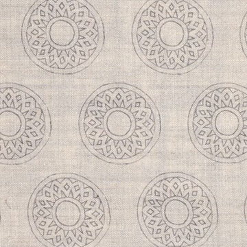 "Alex Conroy Textiles ""Large Gujarat"" in Stone"