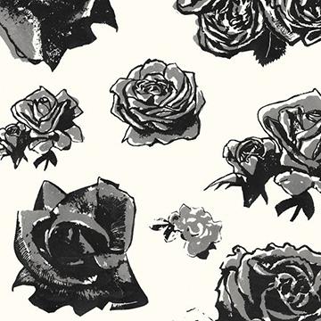 """Edit """"Block Roses"""" in Grey"""