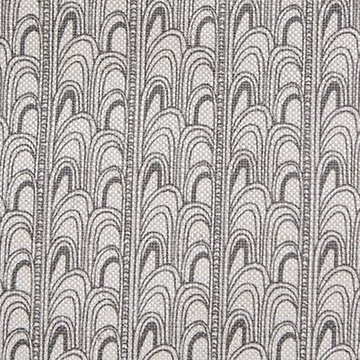 "Fayce Textiles ""Deco"" in Charcoal"