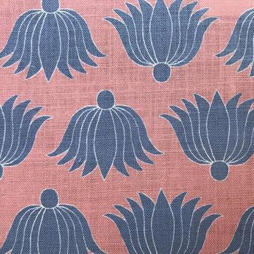 """Alex Conroy Textiles """"Double Lotus"""" in Coral"""