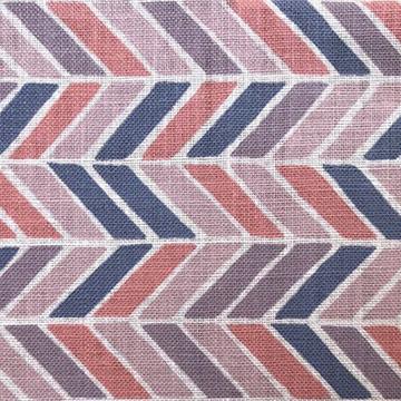 "Alex Conroy Textiles ""Herringbone"" in Coral"