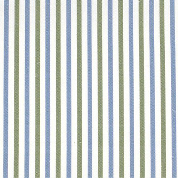 "Alex Conroy Textiles ""Small Stripe"" in Clover Wedgwood Blue"