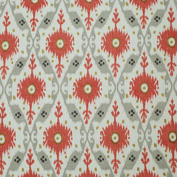 "Clarence House ""Chennai Ikat"" in Grey"